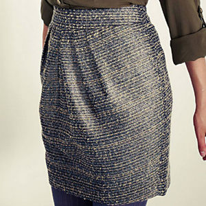 ANTHROPOLOGIE AVANT-TWEED SKIRT BY TABITHA PLEATED